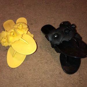 2 pair of cute Nine West sandals